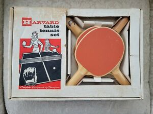 Vintage Table Tennis Set Harvard model 604 in box, ping pong Ex Condition
