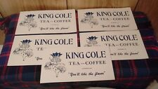"vintage  6"" King Cole tea coffee ink blotters lot of 5 advertising pieces"