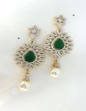 Fabulous Designer Cubic Zirconia Stunning Emerald Earring Set 3012 46E 88