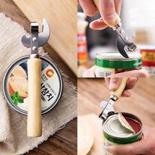 Steel Wood Handle Kitchen Tools Beer Bottle Opener Can Openers Gadgets