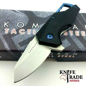Komoran KO033 Folding Pocket Knife Flipper Carabiner Clip G10 Handle Work EDC