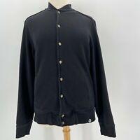 American Giant Black Button Sweatshirt Jacket Women's Size XL