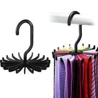 Adjustable 360° Rotating 20 Hook Neck Ties Organizer Men Tie Rack Hanger Holder