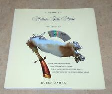 A Guide to Maltese Folk Music w/ CD 2006 Ruben Zahra Rare Import Not Ex-Library