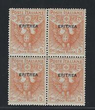 ERITREA SCOTT # B3 BLOCK OF 4 MNH