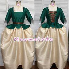 18th Century Dupion Silk Caraco Jacket Dress Cosplay Costume A/B