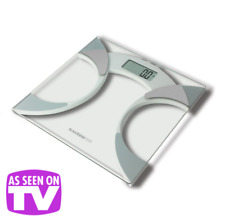 Salter Ultra Slim Glass Body Fat Analyser Digtal Bathroom Scales 9141 WH3R