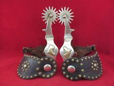 New ListingVintage Pair Of Ricardo Horse Head Spurs With Spotted Straps