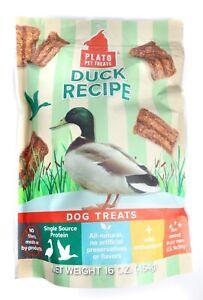 PLato Pet - Duck Recipe Dog Treats 16oz.