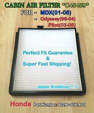 HONDA ACURA CABIN AIR FILTER C45459 Odyssey 99-04 & Pilot 03-08 MDX 01-06 (^_^)