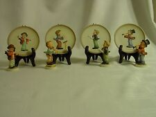 Hummel ~ Little Music Makers ~ 4 Plates Plus 4 Figures ~ Free Shipping