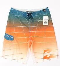 Billabong Mens Fluid Boardshorts Tangerine Combo 32 New