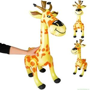 """36"""" Giraffe - Cute Inflatable Zoo Animal - Kid Party Pool Blow Up Toy Decoration"""