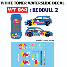 WT064 White Toner Waterslide Decals > REDBUL2 >For Custom 1:64 Hot Wheels