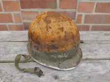 #G Original US Army WW2 M1 Stahlhelm helmet Glocke gebördelter Rand Kinnriemen