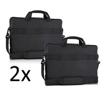 """2-LOT NEW Genuine Dell Laptop Bag Professional Sleeve 13"""" Gray Carry Case 7MTR0"""