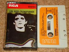 LOU REED - Transformer - cassette tape album - Early RCA issue with paper labels