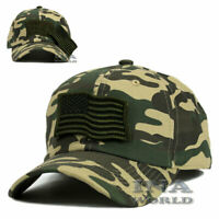 USA American Flag Hat Detachable Patch Tactical Military Baseball cap- Woodland