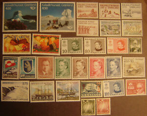 Greenland 30 Different Mint Never Hinged F-VF