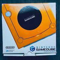 GameCube Orange Console System w/Box Japan GC Nintendo