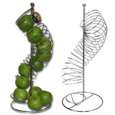 Fruit Basket Apple Orange Spiral Design Holder Stand Large Steel Kitchen Storage