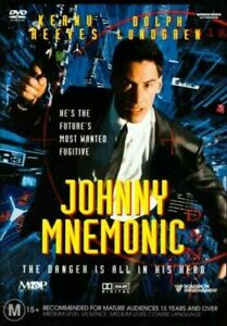 Johnny Mnemonic DVD Region 4 1995 Keanu Reeves sci-fi action THRILLER