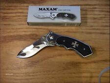 Maxam Liner Lock Style With Biker Emblem Pocket Knife