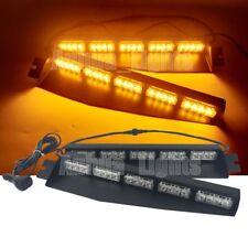 "34"" 40W LED Flashing Warning Visor Dash Deck Split Strobe Windshield Light Amber"