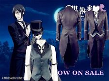 Black Butler Claude Faustus Cosplay Costume + free Wig