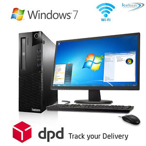 FAST CHEAP WiFi DUAL CORE WINDOWS 7 PC DESKTOP COMPUTER FULL SET-UP BUNDLE