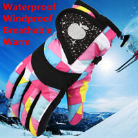 Children Kids Winter Warm Windproof Snow Snowboard Ski Sports Travel Gloves CH