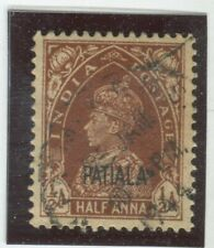 India - Convention States - Patiala Stamps Scott  #99 Used,VF (X6513N)