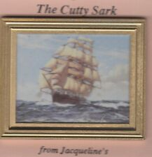 DOLLHOUSE MINIATURE GOLD FRAME PRINT ART THE CUTTY SARK Jacquelines