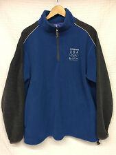 Men's TEAM USA Vancouver Olympics 2010 Fleece Pullover Jacket Large blue/ gray