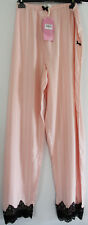 Peter Alexander Lace Trimmed Peach Viscose Striped PJ Pant Sz XXL NWT