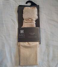 M&S Mens Champagne Colour Pure Silk Waffle Cravat BNWT
