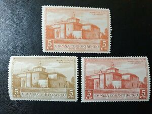 Spain - 1930 - DISCOVERY OF AMERICA  - 3 stamps  - MLH