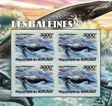 WHALES Humpback Whale Stamp Sheet #4 of 5 (2011 Burundi)