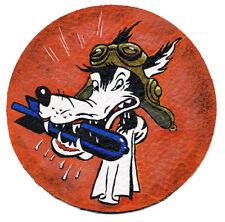 Handbemalter Lederpatch VB-2 Sea Wolf Fliegerjacke Noseart Vintage Air Force WW2