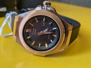 NEW Casio Black Dial Solar MSGS500G-1A 100M Women's Watch Gold Black