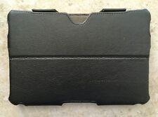 BlackBerry Playbook Leather Folio Flip Case (Black)