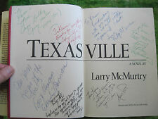 TEXASVILLE - SIGNED BY LARRY MCMURTRY & 16 MEMBERS OF THE FILM CAST - 1ST ED
