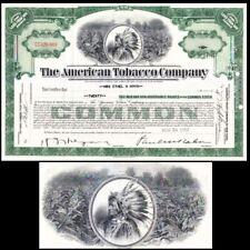 American Tobacco Company NJ 1952 Stock Certificate
