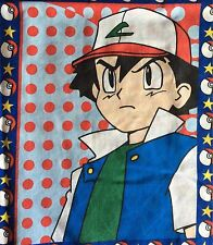 Vintage Pokemon Ash Fabric Panel Cotton Blend Sheeting TM Sew Craft Nintendo