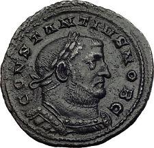 CONSTANTIUS I Chlorus 300AD Londinium London Mint RARE Ancient Roman Coin i64017