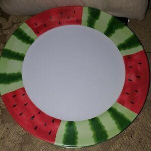 "Watermelon Design Summer Tableware Set of 6 Dinner Plates - 11"""