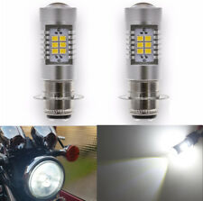 2x P15D H6M Motorcycle Headlight LED Bulb Projector Lens Fog Light 12V 2835 SMD