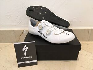 SPECIALIZED S-WORKS 7 RD ROAD CYCLING SHOES WHITE 46 EU 12 US MEN LIGHTLY USED