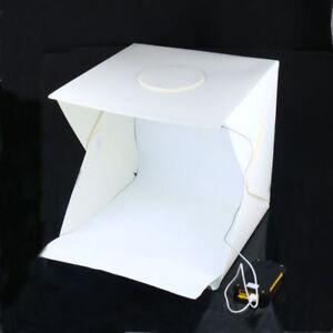 UK 40cm Foldable Photo Studio Shooting LED Lighting Tent Kit Portable Mini Soft