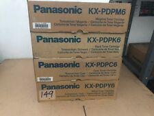 Full set Geniune Panasonic KX-PDPC6 toners Black Cyan Magenta Yellow
